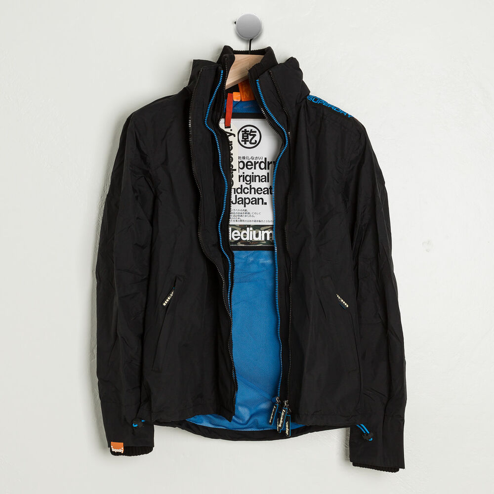 Superdry Japan Uk Tecnical Pop Zip Windcheater Blue Black