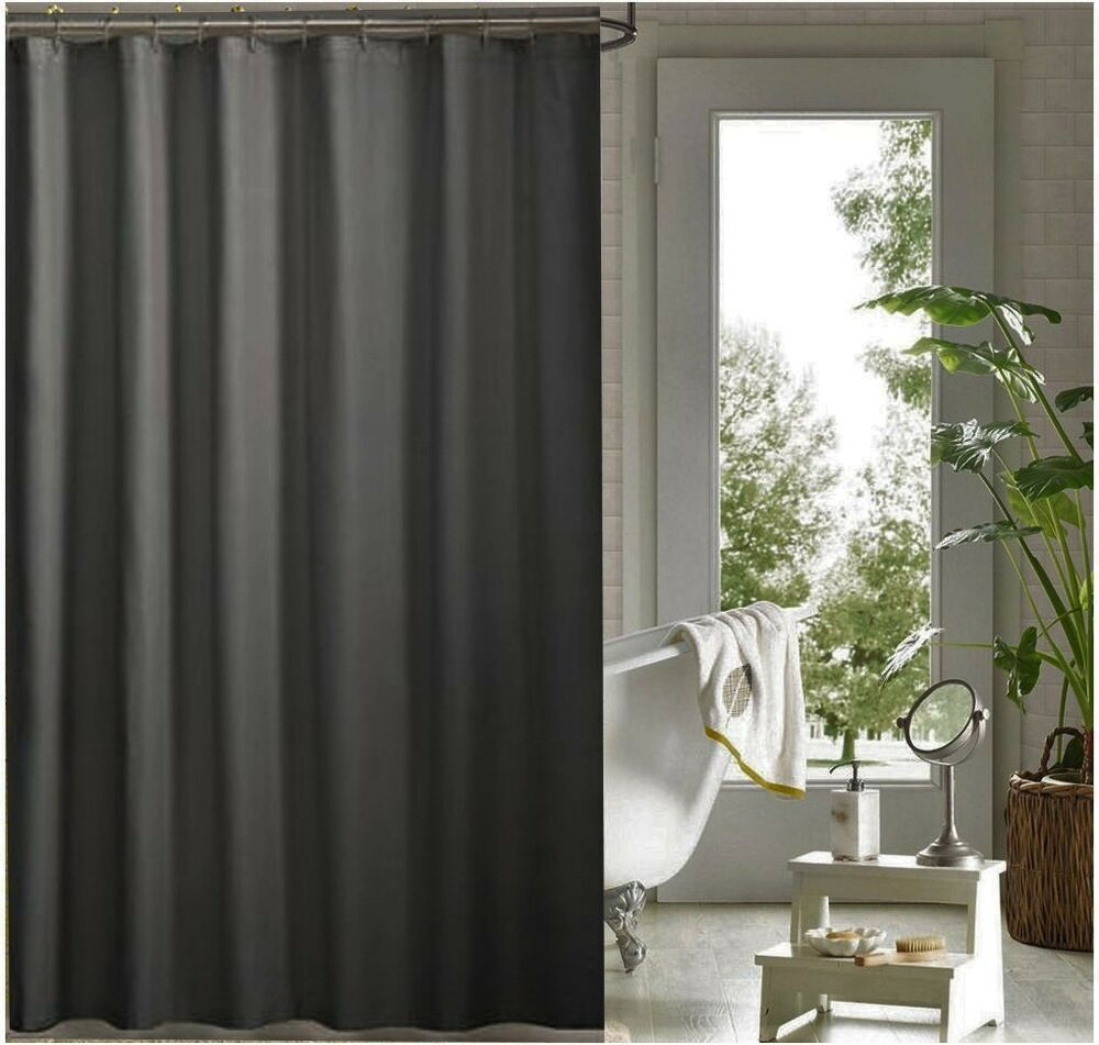 Charcoal Grey Shower Curtain 1 8 X 2m New Free Shipping Ebay
