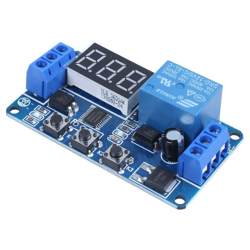 Automation Dc 12v Led Display Digital Delay Timer Control