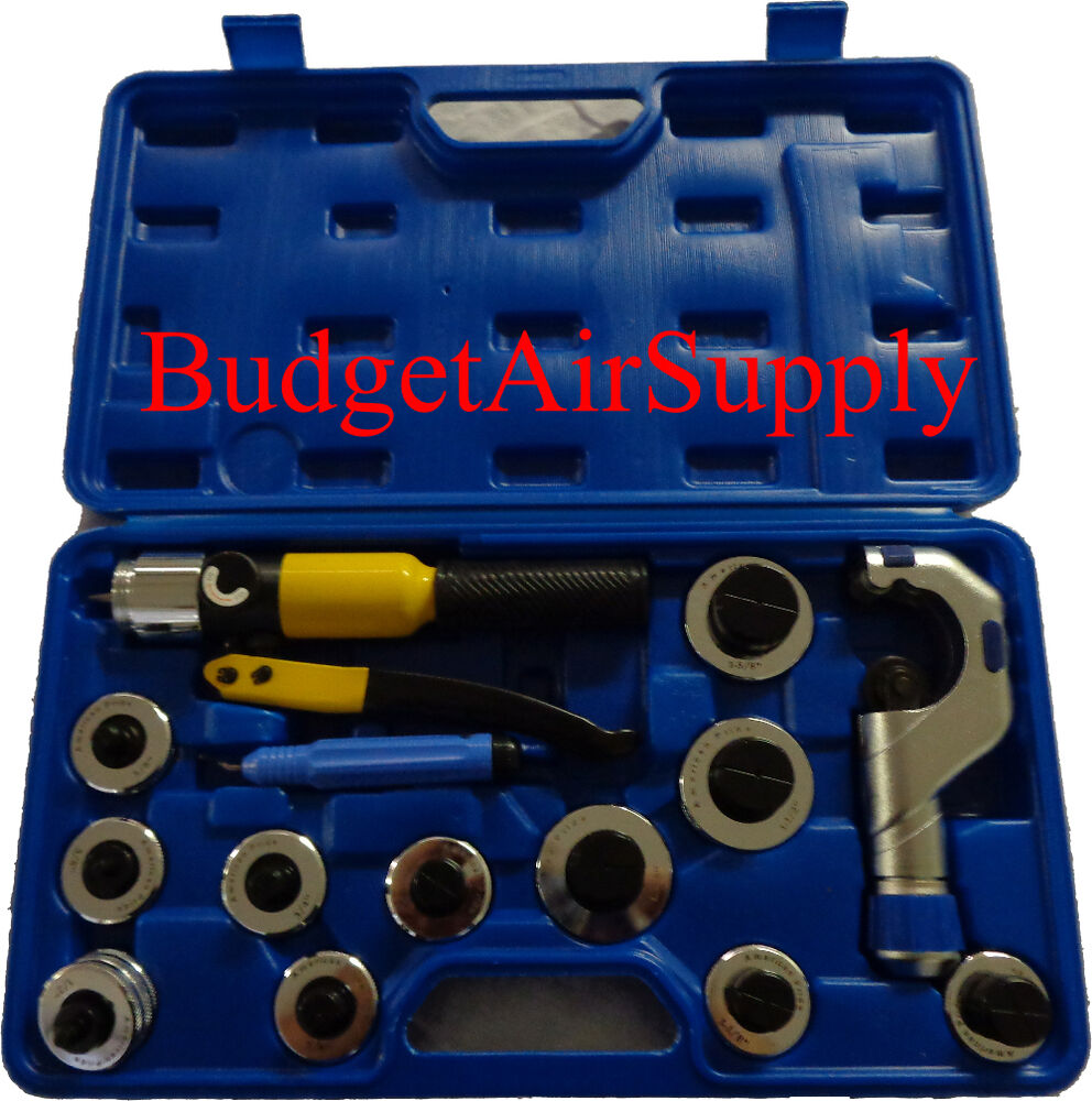 Hydraulic Copper Tube Expander Swag 11 Heads 14pc Case