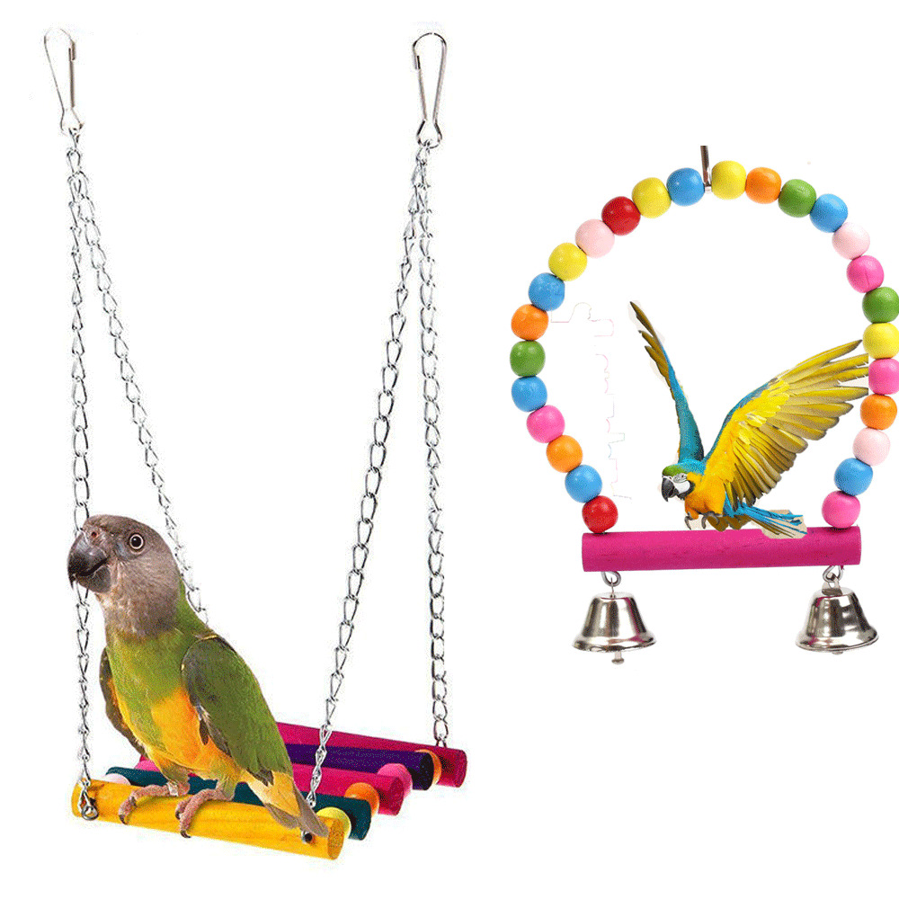 Toys For Birds : Pet bird swing parrot parakeet budgie cockatiel cage