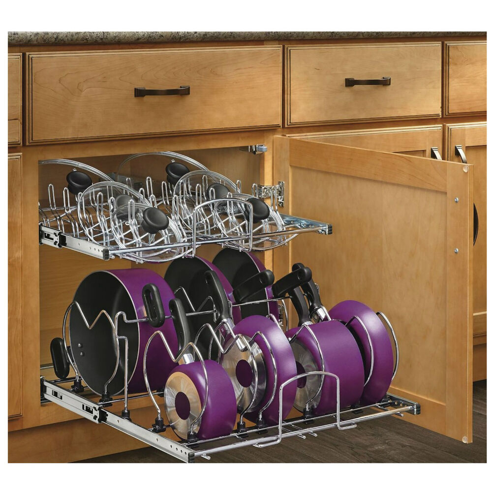 Kitchen Cupboard Organizers Pan Lid Pot Under Sink Cabinet ...