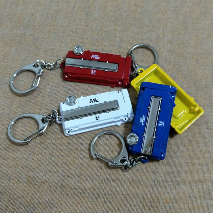 Hot Valve Engine Cover Auto Parts Keychain Key Ring Car