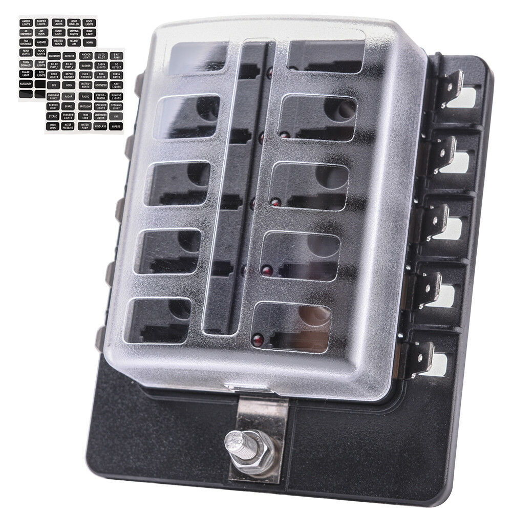 Car Fuse Box Prices : Mictuning led illuminated automotive blade fuse holder box