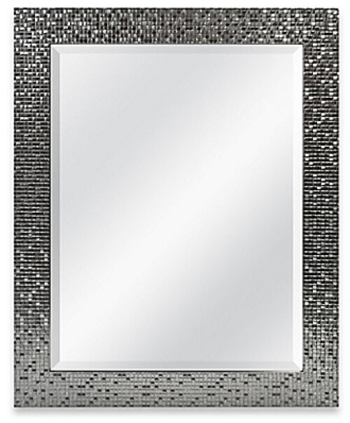 Wall Frame Home Hallway Entryway Bathroom Decor Silver Rectangular Bevel Mirror
