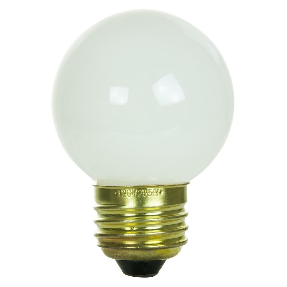 Sunlite Incandescent 25 Watt G16 Globe 150 Lumens White Light Bulb Ebay