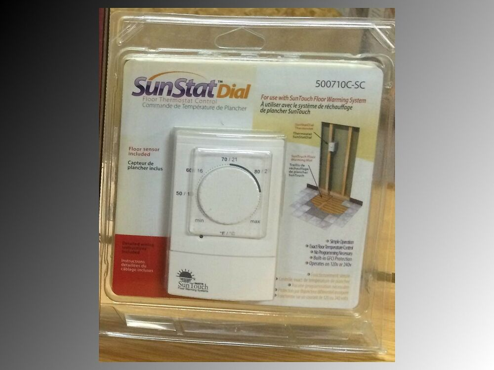 Electric Floor Warming Heating Non Prog Thermostat 500710 Sunstat Sensor 840213090609 Ebay