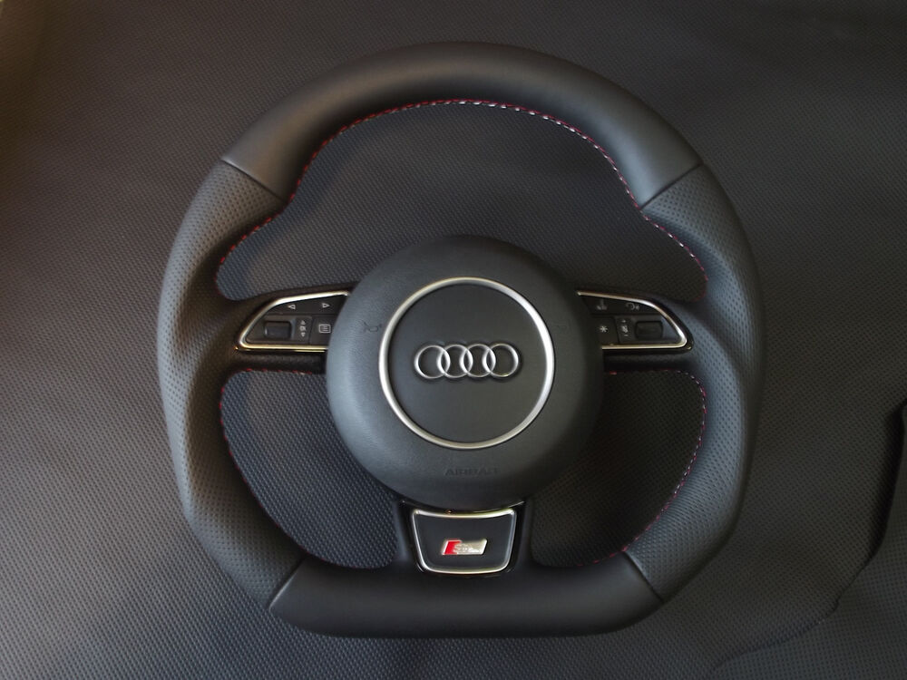 Rubber Car Mats >> NEW Audi flat bottom multi steering wheel A3, S3, A4, S4, A5, S5, A6, S6 | eBay