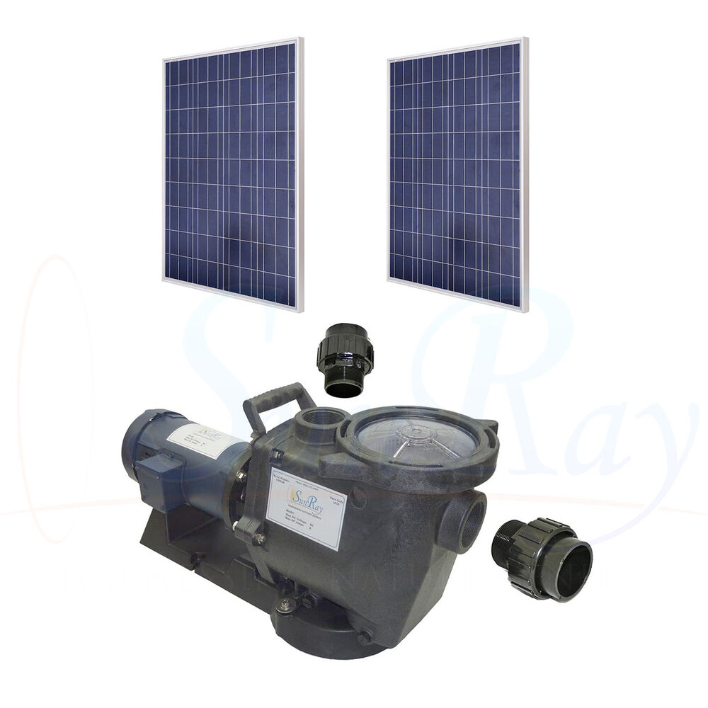 sunray solflo1 solar pool pump with 60vdc pv solar power for above ground pools ebay. Black Bedroom Furniture Sets. Home Design Ideas