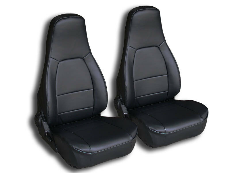 mazda miata 1990 2000 black iggee s leather custom fit front seat cover ebay. Black Bedroom Furniture Sets. Home Design Ideas