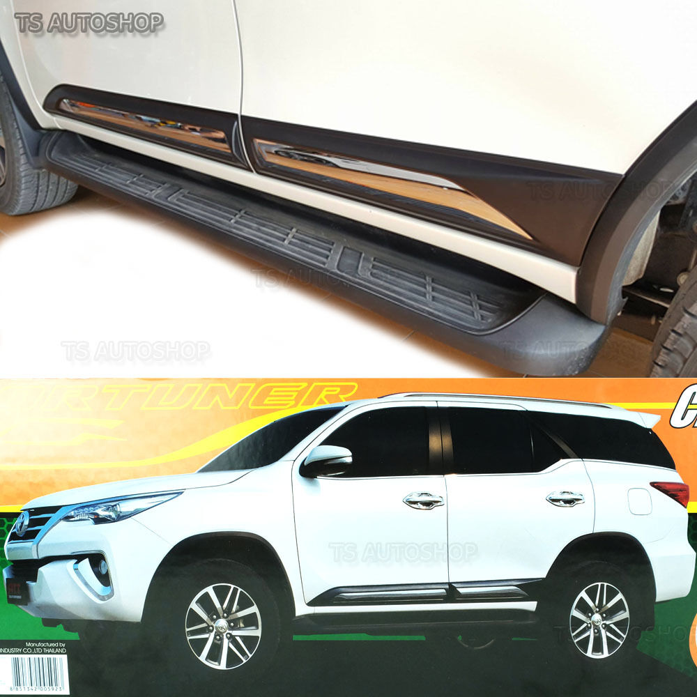 All New Fortuner 2018 >> Fitt Chrome Side Doors Cladding Moulding Trims Guards Toyota Fortuner 2016 2017 | eBay