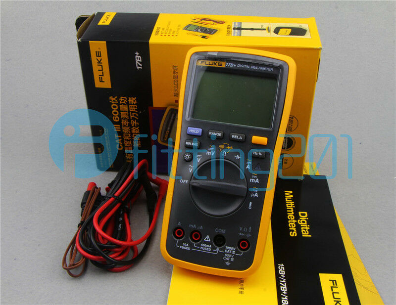 Fluke Voltmeter Tester : Fluke b digital multimeter tester dmm with tl test