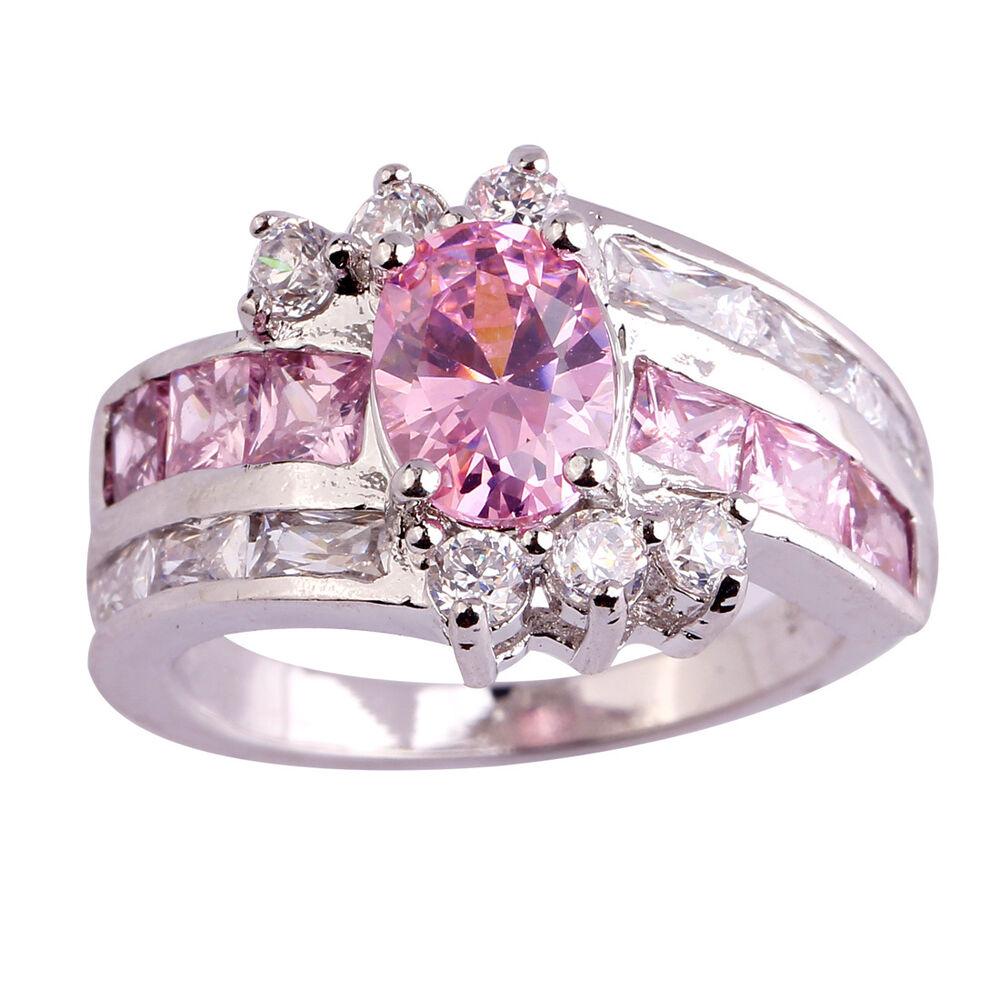 Oval Pink & White Gemstone Fashion Women Aaa Silver Ring. Oval Engagement Rings. Compass Watches. Birthstone Chains. Fog Test Diamond. Rainbow Gemstone. Beach Ank0 3 Carat Diamond. Name Bracelet. Pink Eternity Band