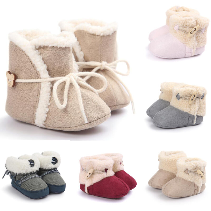 Baby Girl Boy Soft Sole Booties Snow Boots Infant Toddler ...