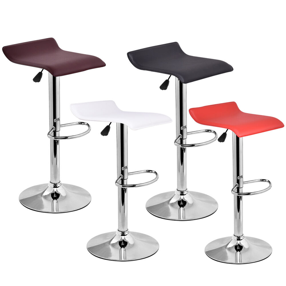 1 Pc Modern Leather Bar Stool Adjustable Swivel Diner
