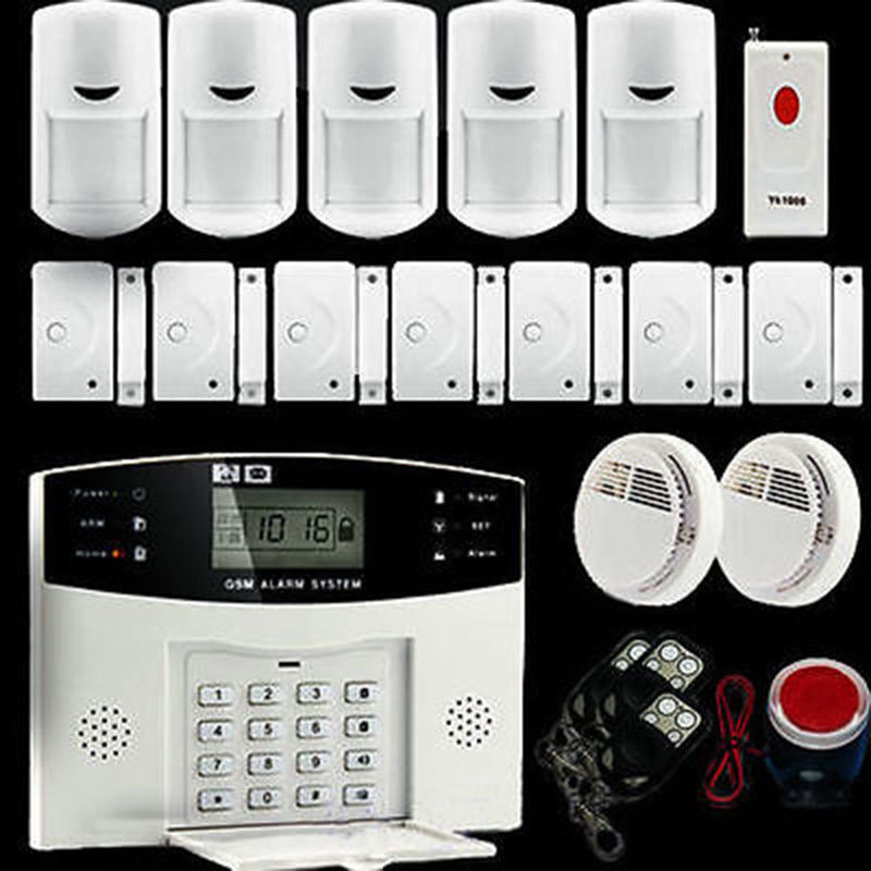 Wireless Wired Lcd Touch Keypad Gsm Sms Home House Alarm