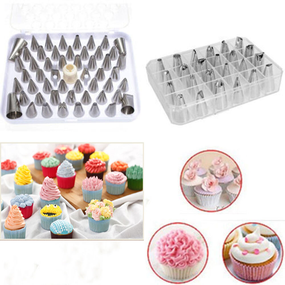 Cake Decorating Techniques Uk : 24pc Wholesale Cake Icing Piping Nozzle Cupcake Fondant ...