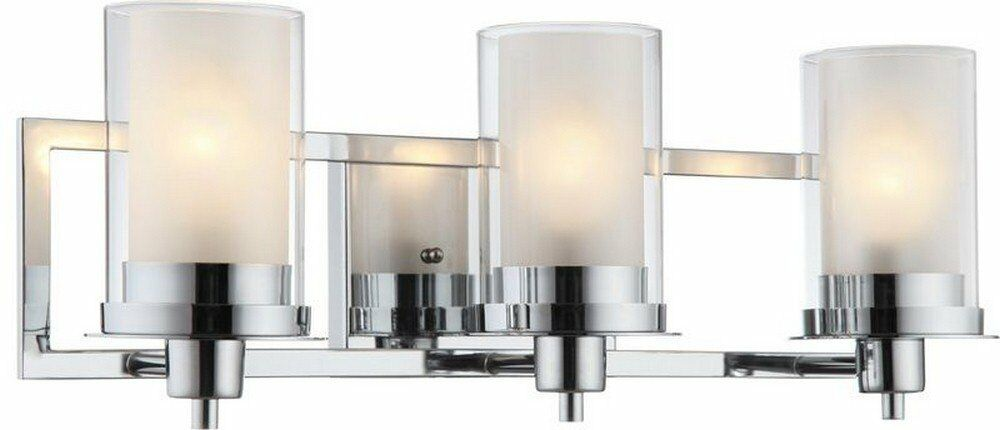 Chrome Bath Lighting Fixtures: Hardware House 21-0522 Avalon Three Light Wall Mount