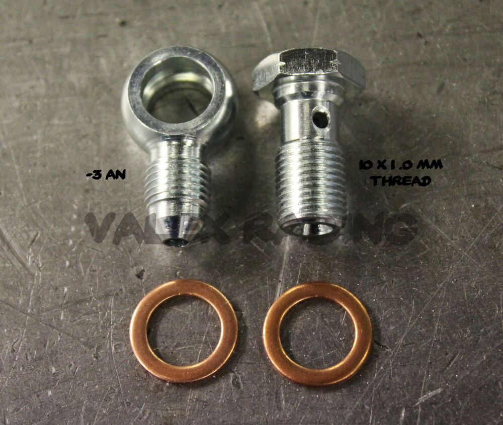 Steel banjo bolt fittings m metric mm to an