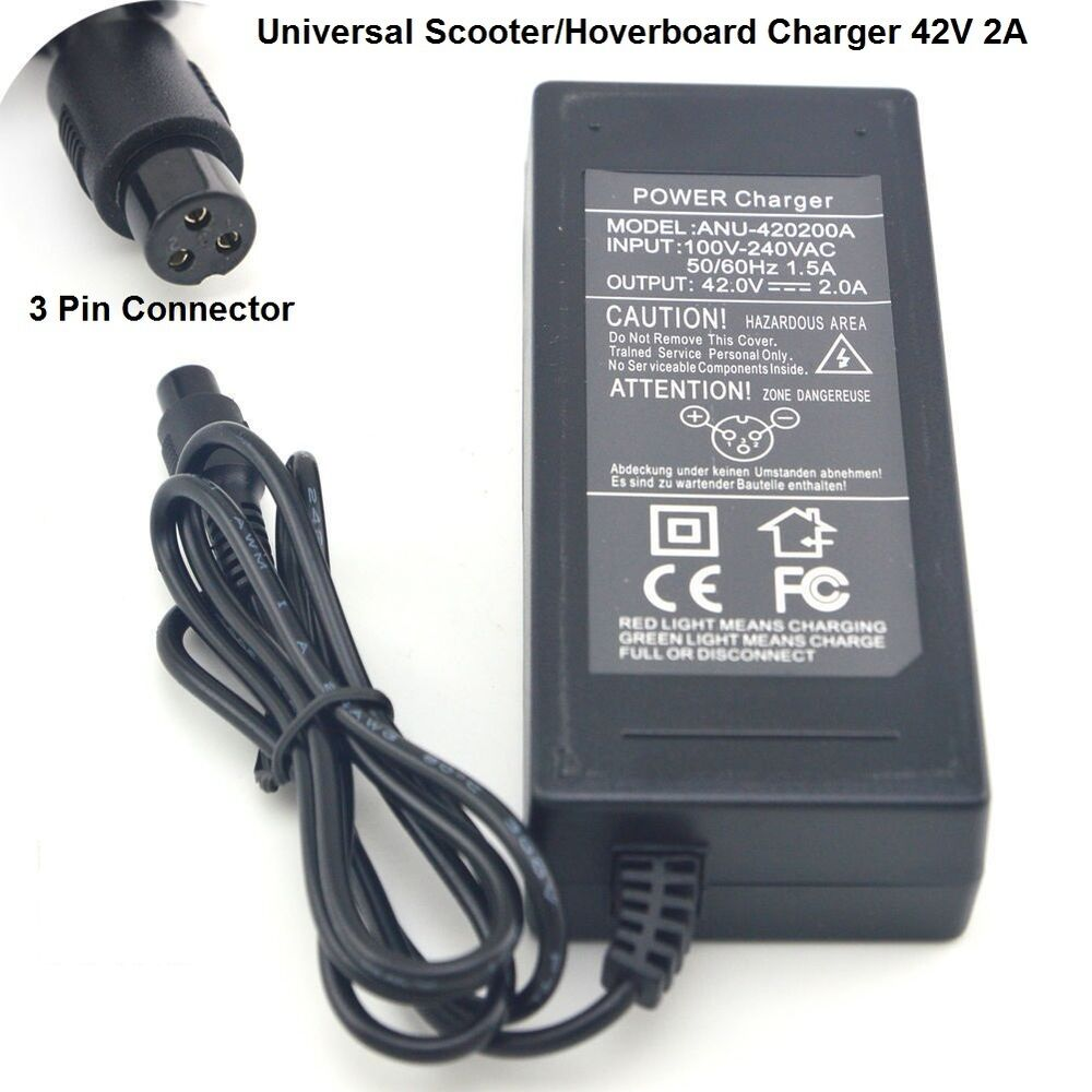 Scooter Charger 3 PINS Hoverboard Power Adapter