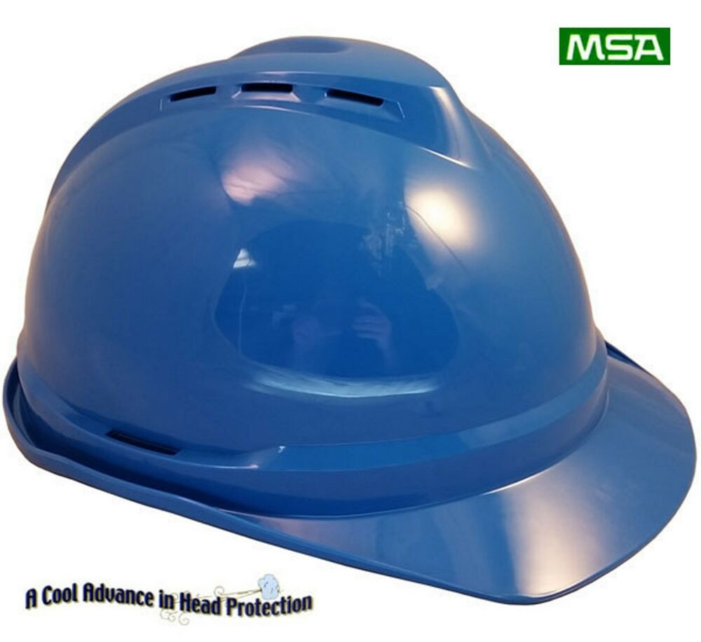 Msa Cap Style Advance Vented V Gard Hard Hat Quot Blue Quot With