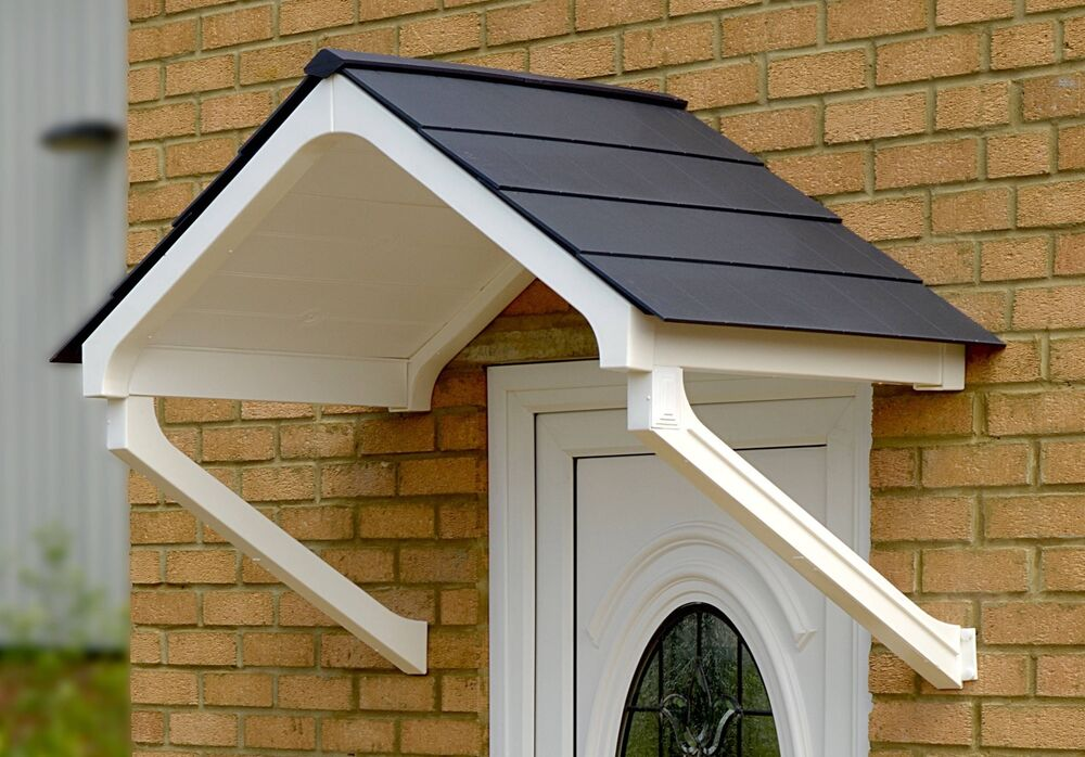 Upvc care free canopies apex porch grey and white canopy for Grey upvc porch