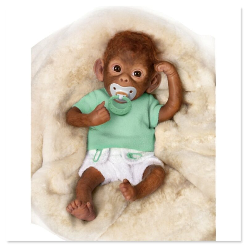 Ashton Drake Lolo So Truly Real Baby Monkey Doll By