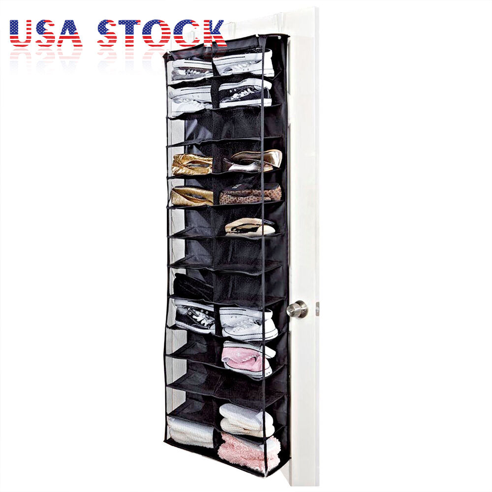 26 Pocket Over Door Hanging Shoe Rack Shelf Organizer