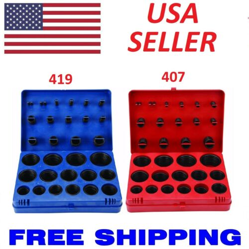 SAE Metric Rubber O-Ring Washer Assortment Kit Automotive Storage Case ORing Set