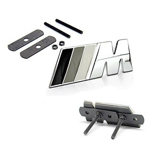 chrome grille m emblems badge 3d for bmw m3 e36 e46 e90. Black Bedroom Furniture Sets. Home Design Ideas