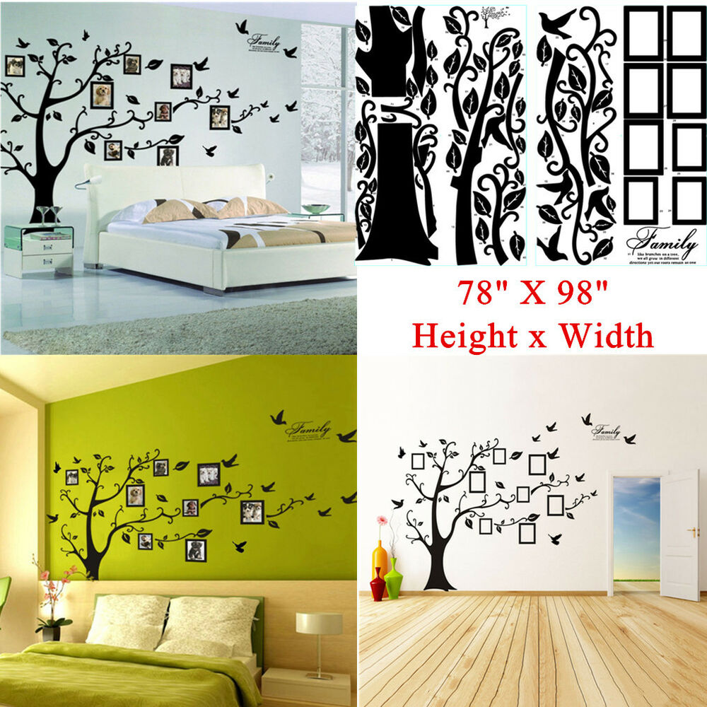 Large 78 Quot X99 Quot Photo Frame Family Tree Removable Wall Decal
