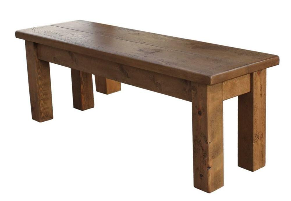 Quot any size made solid wood chunky rustic plank pine table