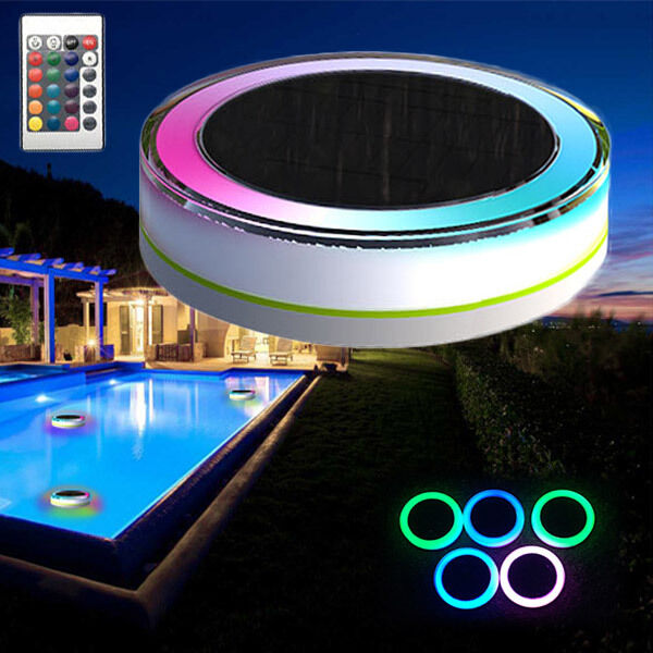 Remote Control Solar Power Led Colorful Swimming Pool