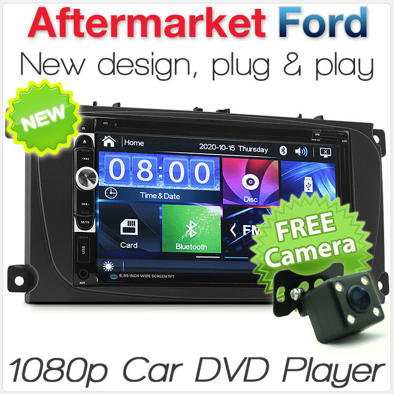 7 car dvd player for ford focus mk2 stereo radio usb mp3. Black Bedroom Furniture Sets. Home Design Ideas