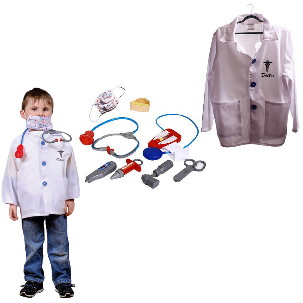 Dress Up Pretend Play Images On: Dazzling Toys Kids Doctor Costume Set Pretend Play Dress