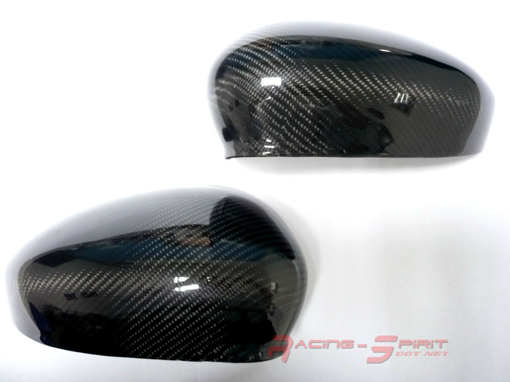 Real 3d Glossy Carbon Fiber Side Mirror Cover Cap For 12