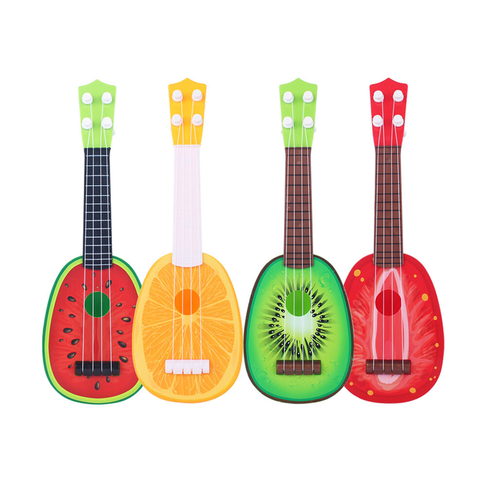 fruit children musical guitar ukulele instrument toy kids educational game gift ebay. Black Bedroom Furniture Sets. Home Design Ideas