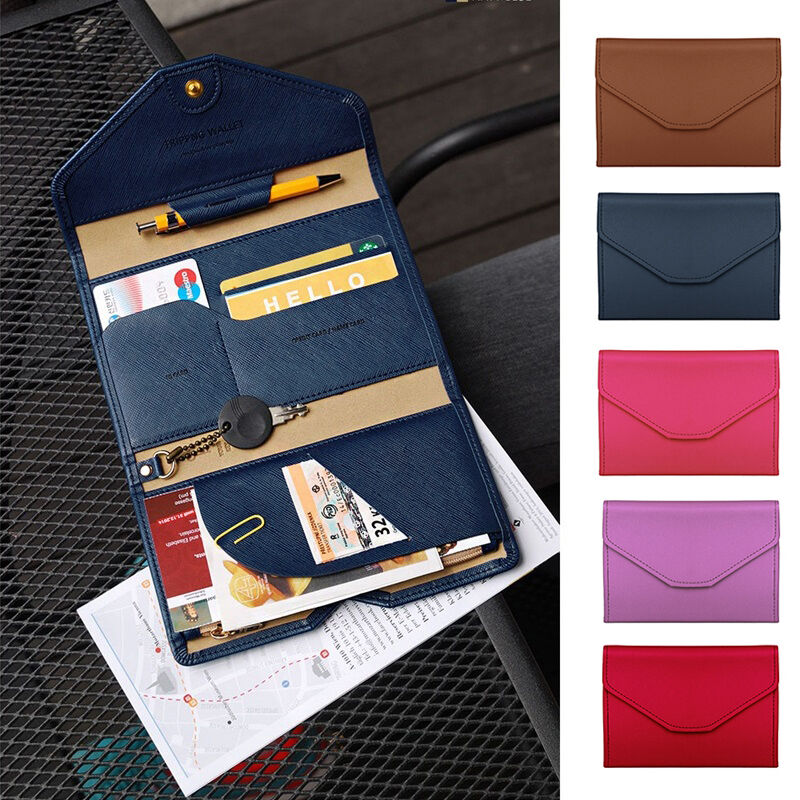 Leather Travel Bag Purse Wallet Document Organiser