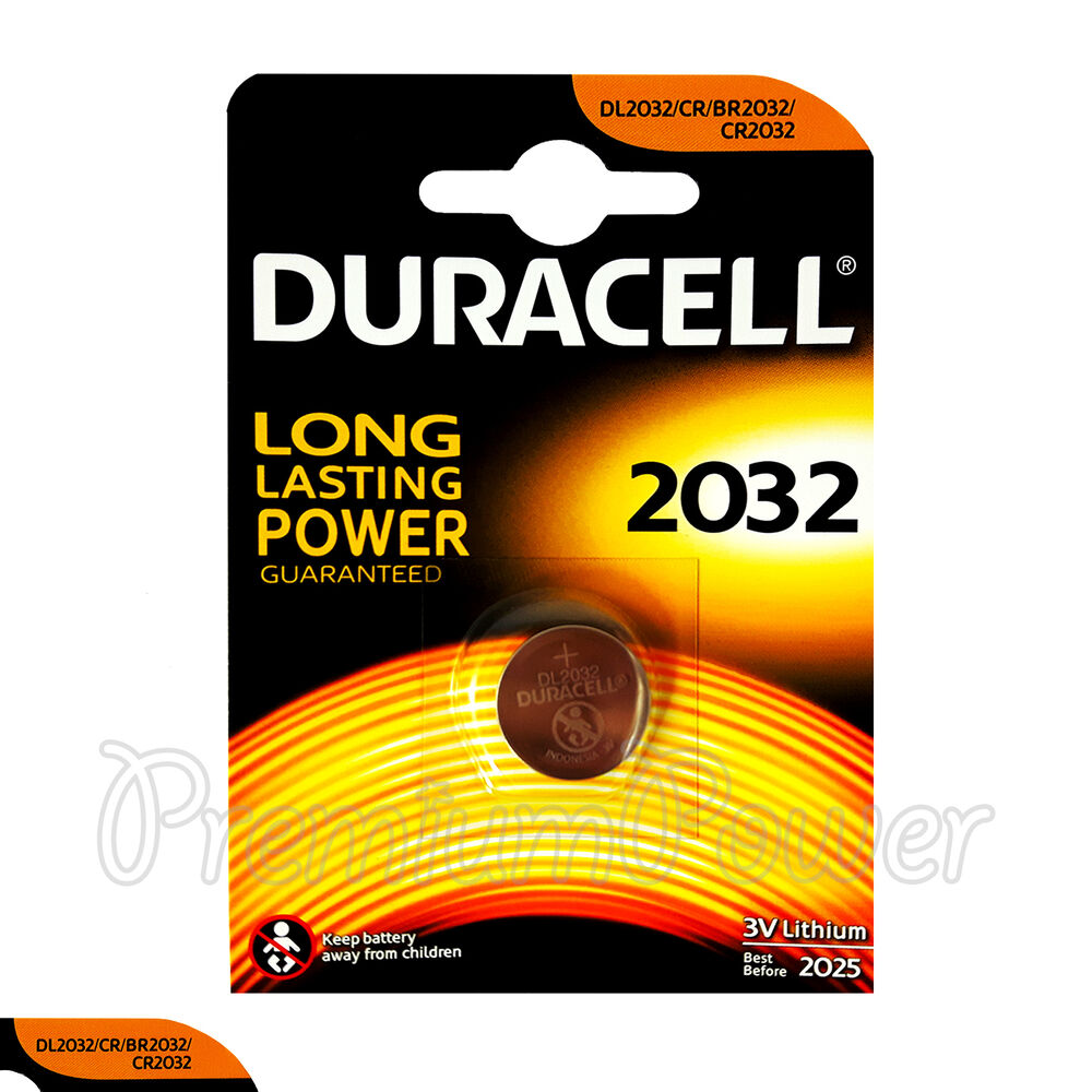 1 X Duracell Lithium Coin Cell Battery Cr2032 Cr Br2032