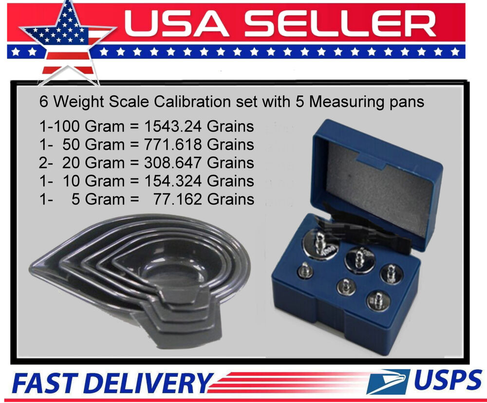 6 Weight Reloading Scale Calibration Kit With Case And 5 Pc Set