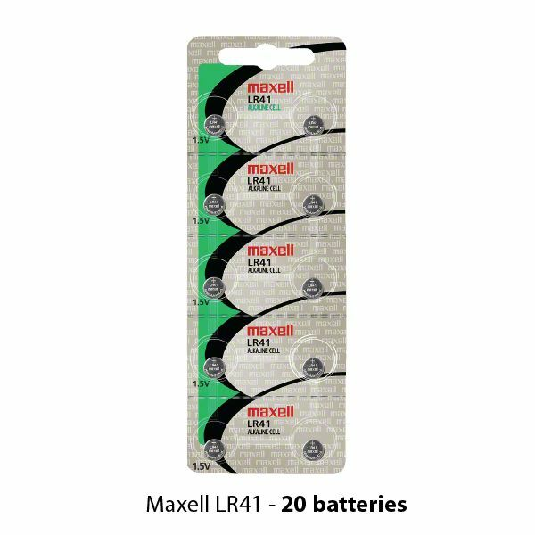 maxell lr41 alkaline 1 5 volt battery hologram 20 batteries ag3 ebay