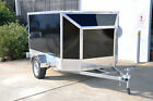 BRAND NEW ALUMINUM ENCLOSED BIKE TRAILER - LIFT UP LID & RAMP EXTRA LIGHT