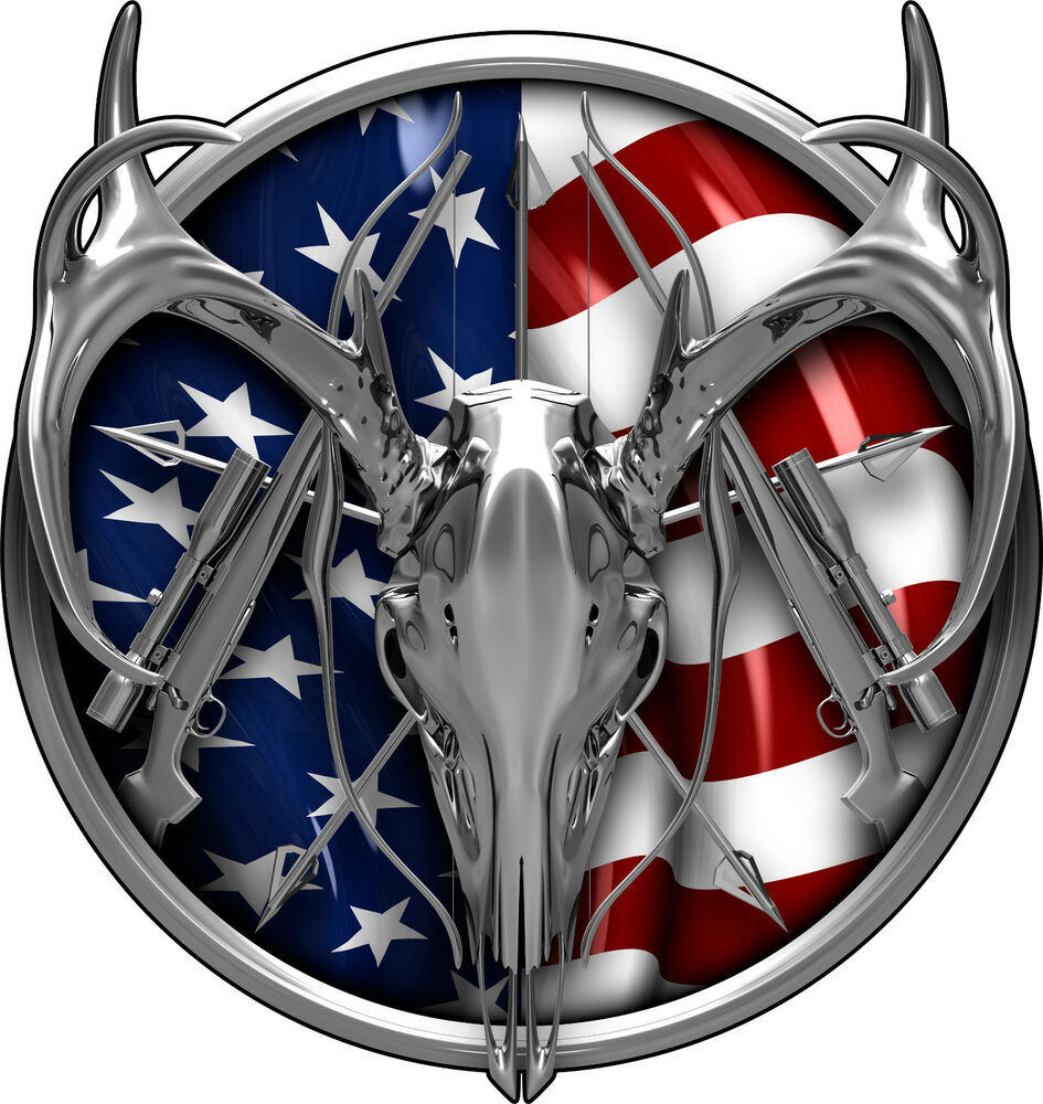 American deer hunter truck stripes graphics trailer decal for Getting stickers off glass