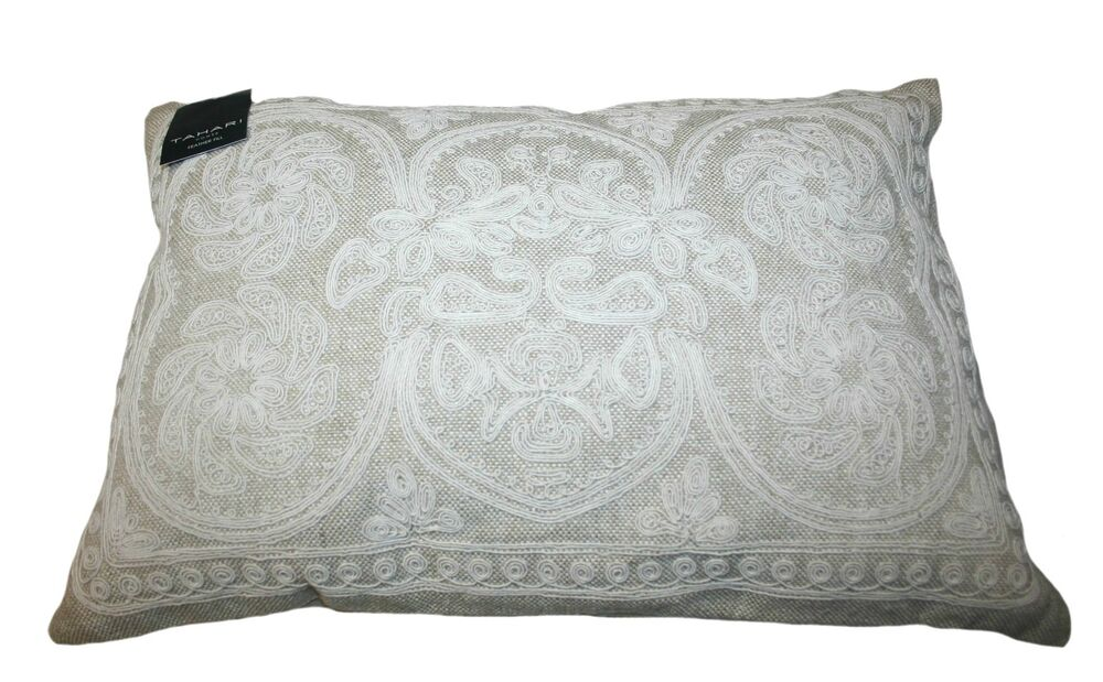 Tahari Home 40% Feather Decorative Pillow 40' X 40' Color Beige Cool Tahari Decorative Pillows