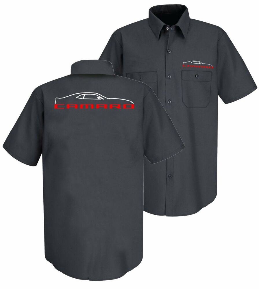 New gray chevrolet 5th generation camaro embroidered work for Work polo shirts with logo