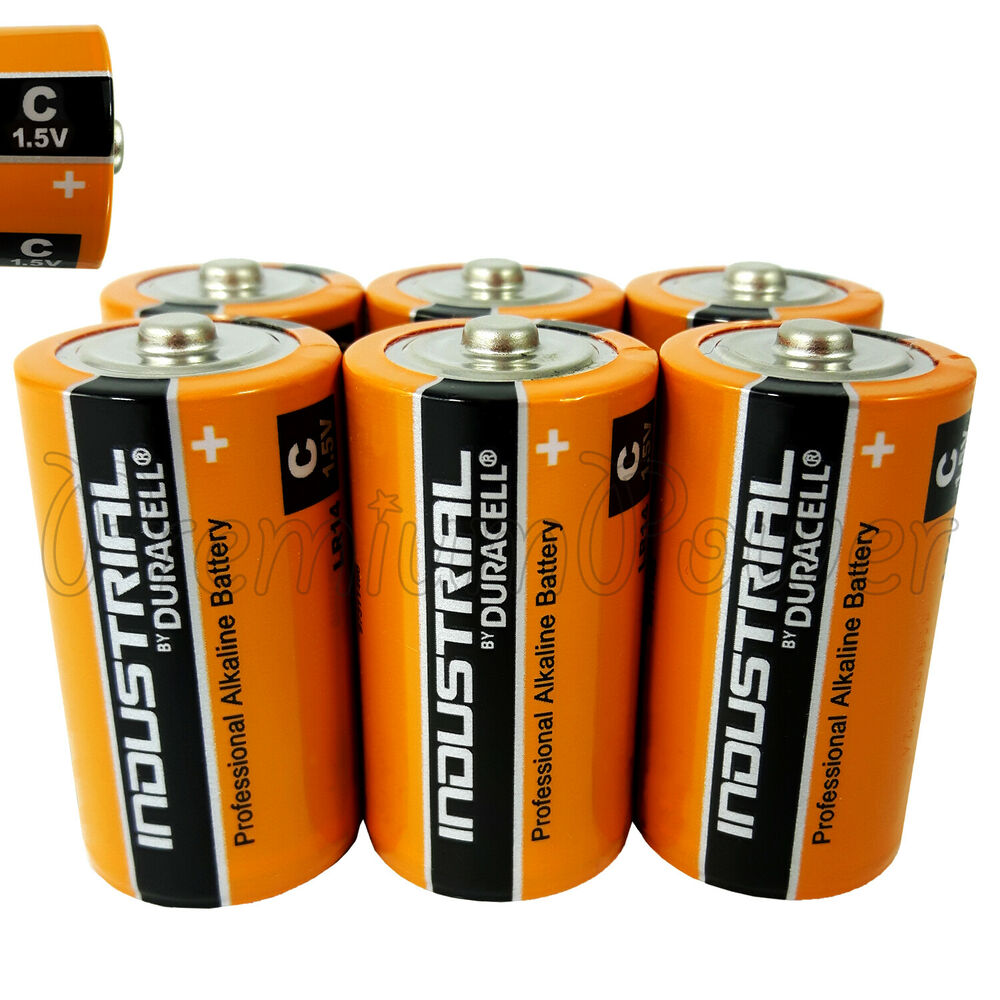 6 duracell c size batteries industrial procell alkaline lr14 mn1400 1 5v exp2022 ebay. Black Bedroom Furniture Sets. Home Design Ideas