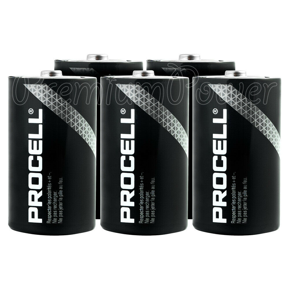 6 x duracell d size batteries industrial procell alkaline lr20 mn1300 mono 1 5v ebay. Black Bedroom Furniture Sets. Home Design Ideas