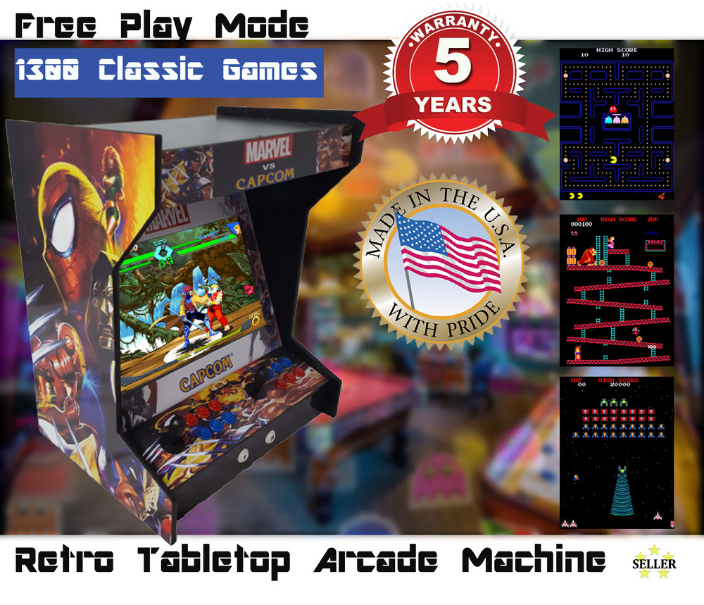 New Dual Side By Side Bartop Tabletop Arcade Machine