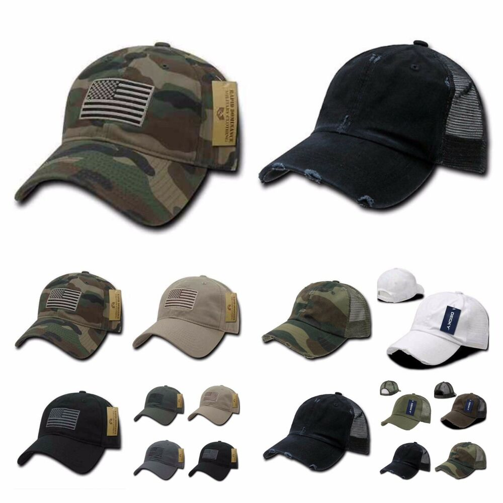 90dbbb974a9 Details about Baseball Cap Vintage US Army Mesh Hat   US Flag Camo Military  Tactical Hats