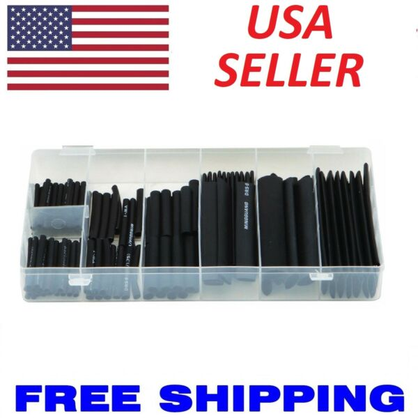 127 pc Heat Shrink Wire Wrap Assortment Set Tubing Electrical Connection Cable